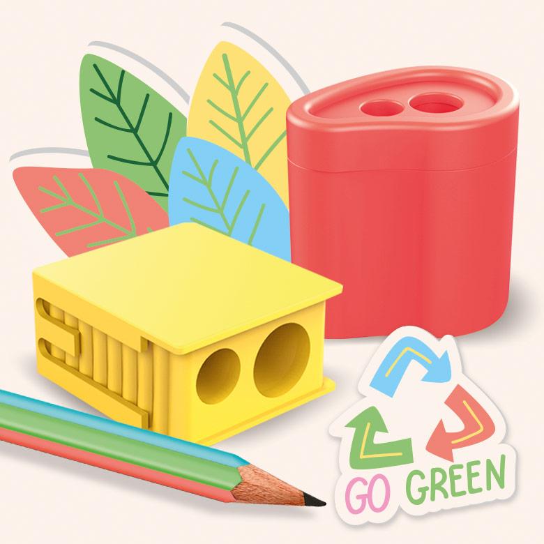ecoline sharpeners - go green