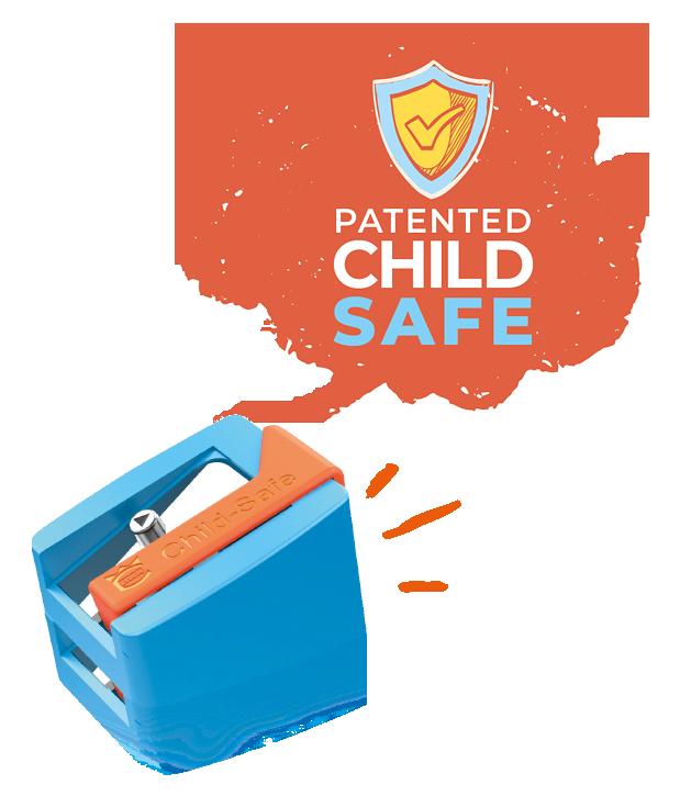 pre-school sharpeners - patented child safe