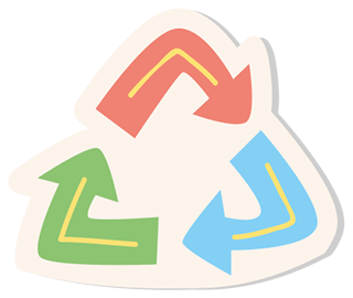 ecoline sharpener recycle logo
