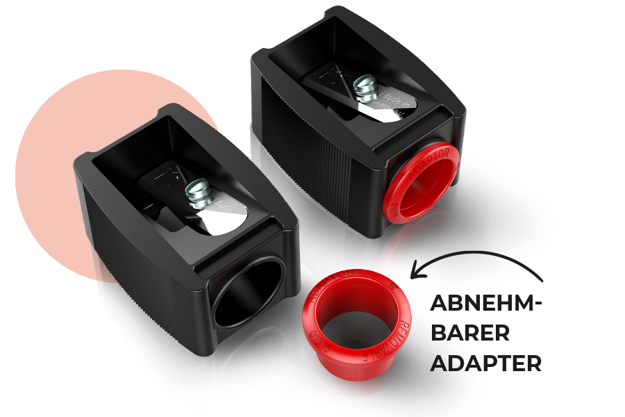 eisen cosmetic sharpener - know how - removable adapter